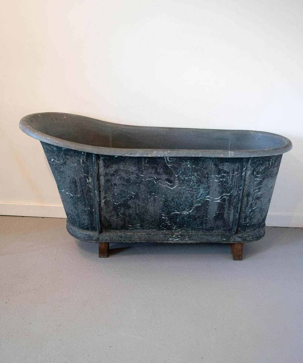Zinc Slipper Bath Vintage France Design Limited