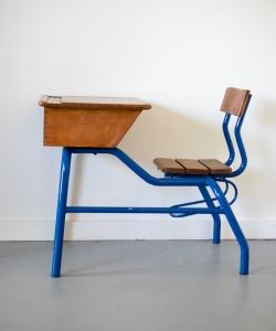 School desk blue-3