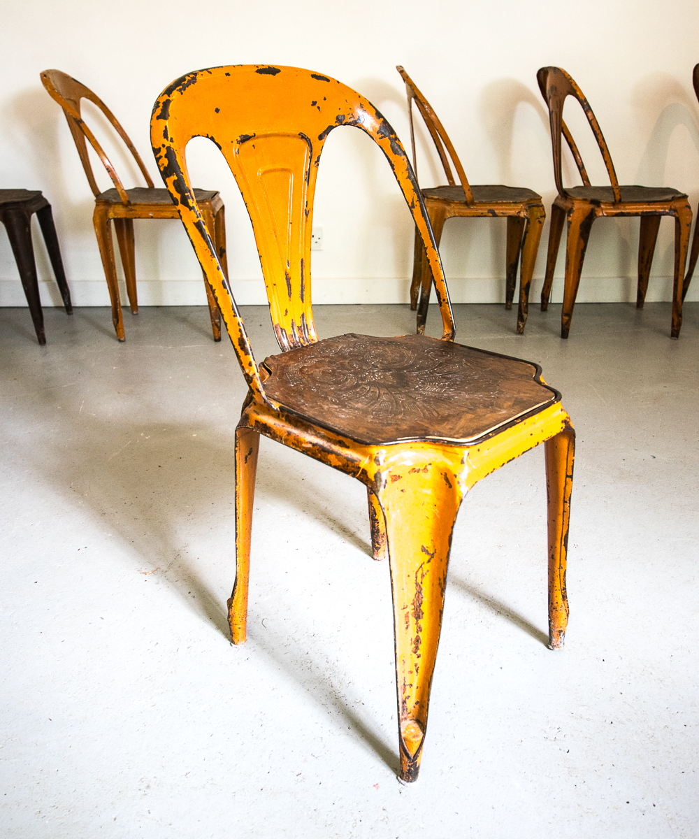 Set Of 6 1940s Tolix Chairs