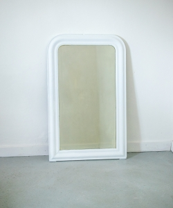 White painted antique french mirror-7