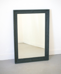 Medium rectangular mirror nearly black 15317-1