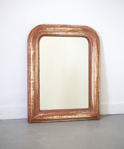 Medium rounded red white mirror 15339-2