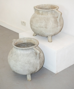 Pair of Willy Guhl Caldron Planters 15310-14