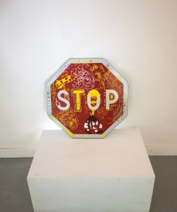 Stop Sign with Graffiti 15294-8