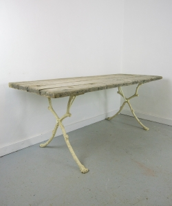 Rustic Oak Iron Table-1