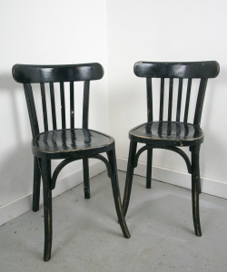 Pair of Wooden Bistro Chairs-1