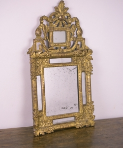 18th century small gilt mirror-1