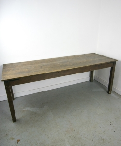Dark Brown Pine Farmhouse Table-10