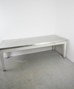 Dining Table with Stainless Steel Top-1