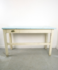 Work Table with Blue Top-10