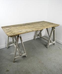 Trestle Table Desk-4