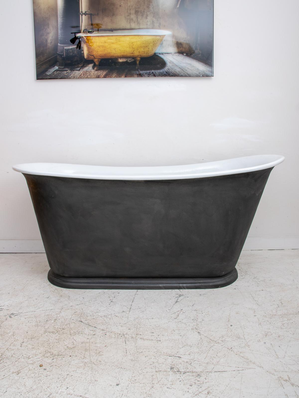 Antique Cast Iron Bath Rolltop Bath Vintage France Design Limited