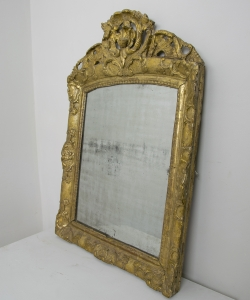Small Gilt Crested Mirror-6