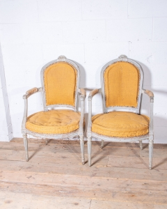 Pair Louis Open Armchairs-11