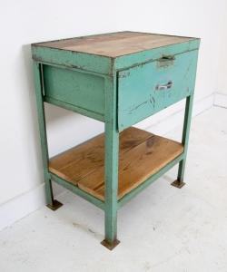 Green metal cabinet-1