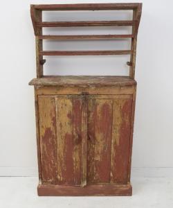Red shabby dresser-3