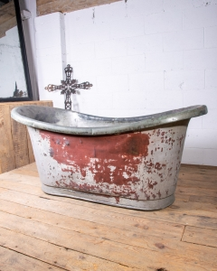 French Antique Copper bateau bath