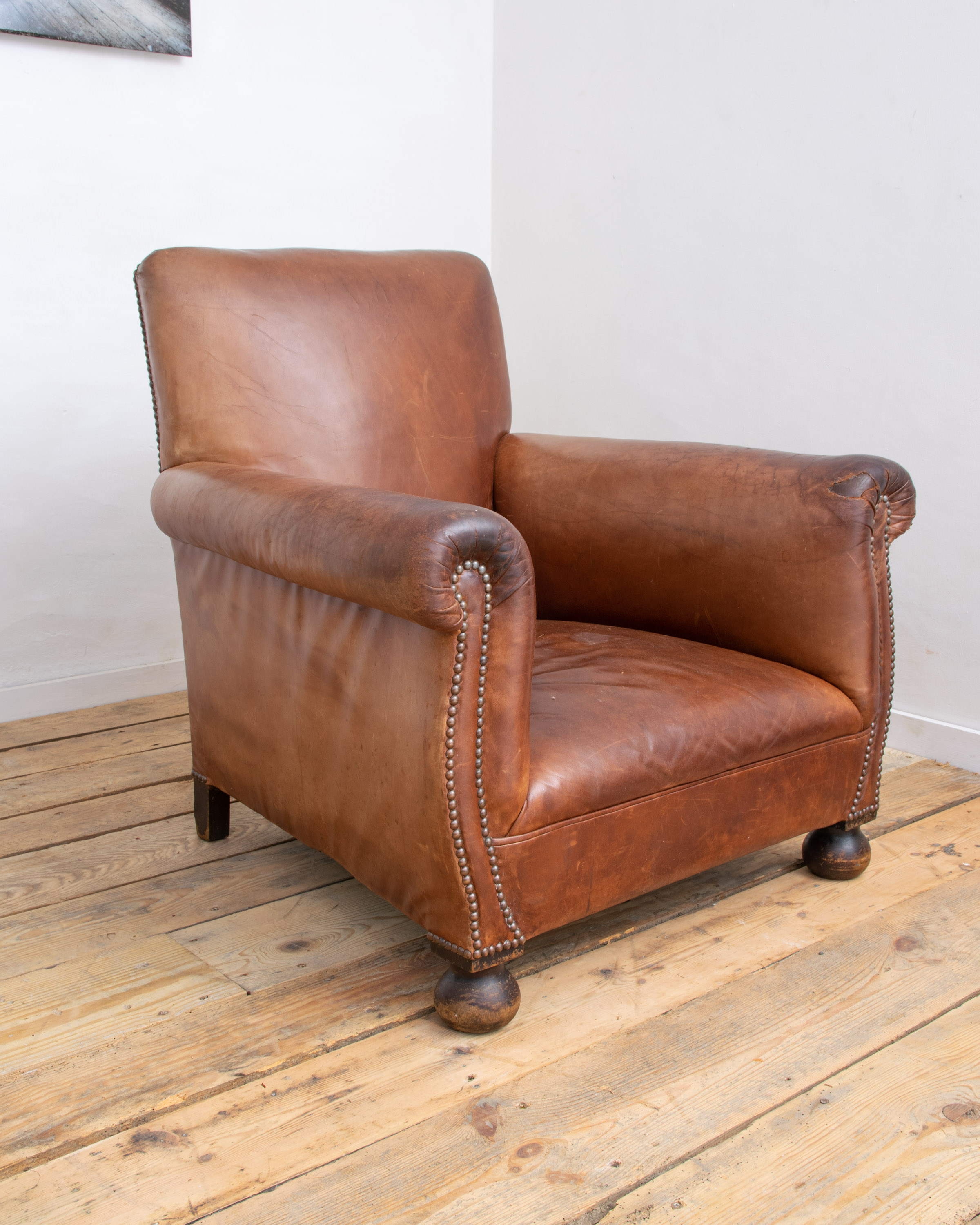George Smith Leather Armchair | Vintage France Design Limited