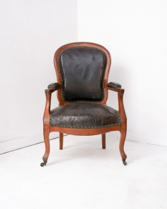 Napoleon III leather armchair