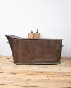 Antique French Copper Slipper Bath