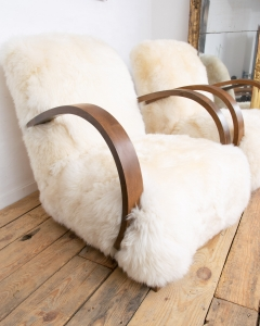 Art Deco Sheepskin Armchairs-2
