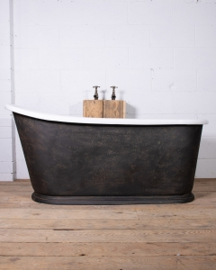 Antique French Cast Iron Slipper Bath tub-2