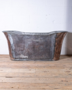 Antique Copper Bateau Bathtub-3