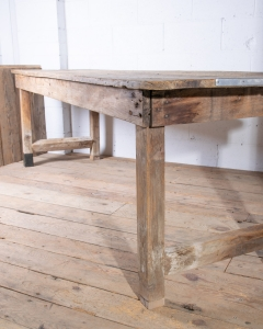 Antique Pine Rustic Farmhouse Table