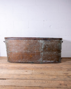 Antique Riveted Copper Bathtub