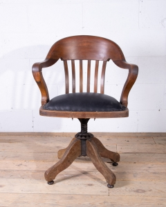 Vintage Captains Desk Chair-11