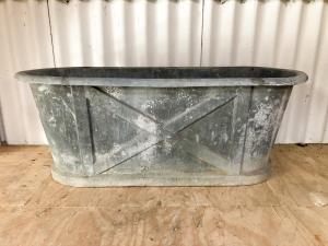 Zinc rolltop bathtub-6
