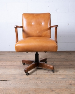 Vintage Swivel Leather Desk Chair