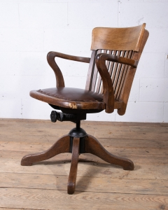 Vintage Captains Desk Chair-5