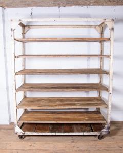Vintage Bagette Bread Rack Trolley