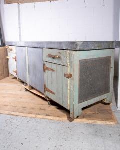 Vintage Zinc Top Cabinet-2