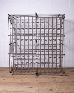Antique Steel Wine Cage_