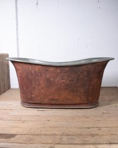 Antique Copper Bateau Bathtub-2