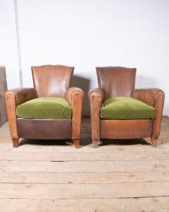 Pair moustache armchairs