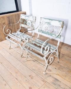 Wrought iron garden chairs-2