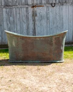 Antique Copper Bateau Bath