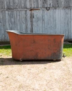 Antique Copper Slipper Bath