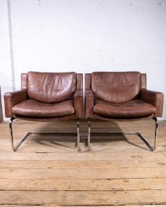 de Sede leather armchairs